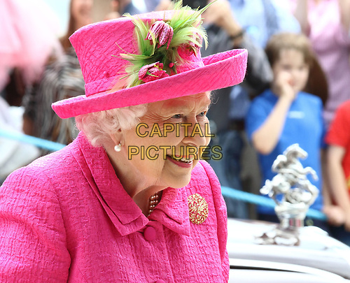 Queen Elizabeth II officially opens the new Royal Papworth Hospital on the Cambridge Biomedical Campus. She met with staff and patients during her visit, as well as seeing some of the facilities at the world renowned heart and lung hospital. Cambridge, UK July 9th 2019<br /> CAP/ROS<br /> ©ROS/Capital Pictures