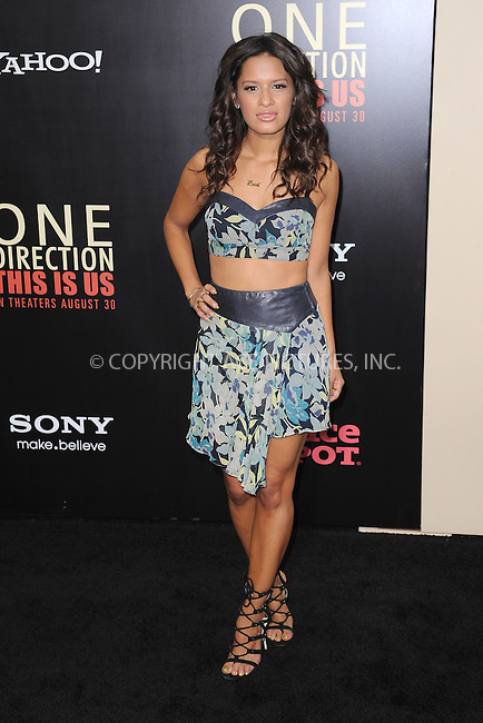 WWW.ACEPIXS.COM<br /> August 26, 2013...New York City <br /> <br /> Rocsi Diaz attends the world premiere of 'One Direction: This Is Us' at the Ziegfeld Theater on August 26, 2013 in New York City.<br /> <br /> Please byline: Kristin Callahan... ACEPIXS<br /> Ace Pictures, Inc: ..tel: (212) 243 8787 or (646) 769 0430..e-mail: info@acepixs.com..web: http://www.acepixs.com