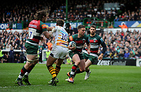 Leicester Tigers' Joe Ford in action during todays match<br /> <br /> Photographer Hannah Fountain/CameraSport<br /> <br /> Gallagher Premiership - Leicester Tigers v Wasps - Saturday 2nd March 2019 - Welford Road - Leicester<br /> <br /> World Copyright © 2019 CameraSport. All rights reserved. 43 Linden Ave. Countesthorpe. Leicester. England. LE8 5PG - Tel: +44 (0) 116 277 4147 - admin@camerasport.com - www.camerasport.com