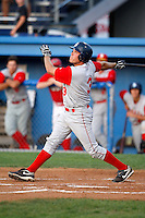 August 6, 2009:  Catcher Dock Doyle of the Brooklyn Cyclones during a game at Dwyer Stadium in Batavia, NY.  The Cyclones are the Short-Season Class-A affiliate of the New York Mets.  Photo By Mike Janes/Four Seam Images