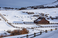 """Located along Last Dollar Road near Telluride, Colorado, Ross Ranch was used in the filming of the John Wayne classic movie, """"True Grit."""""""