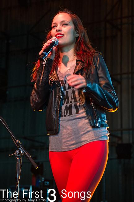 Kate Earl performs at Riverbend Music Center in Cincinnati, Ohio.