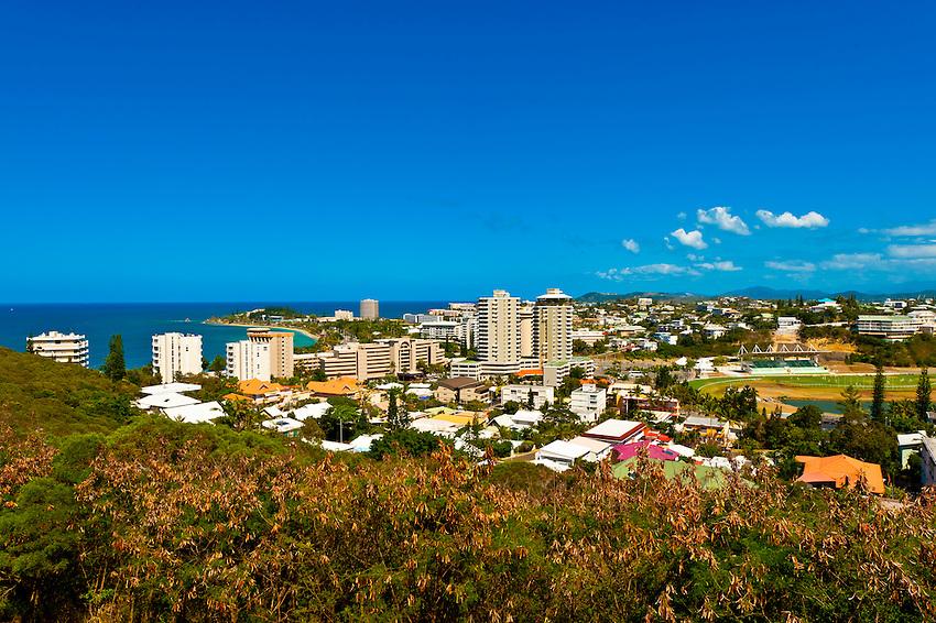 Overview including Hippodrome Henri Millard (horse track), Noumea, New Caledonia