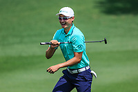 Li Haotong (CHN) in action during the third round of the Volvo China Open played at Topwin Golf and Country Club, Huairou, Beijing, China 26-29 April 2018.<br /> 28/04/2018.<br /> Picture: Golffile | Phil Inglis<br /> <br /> <br /> All photo usage must carry mandatory copyright credit (&copy; Golffile | Phil Inglis)