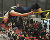 Rickie Casazza of Shoreham-Wading River records a personal best by clearing the bar at six feet, four inches in the high jump event during the Suffolk County varsity boys track and field small schools championship at Suffolk Community College Grant Campus in Brentwood on Friday, Feb. 2, 2018. He finished in second place in the competition.