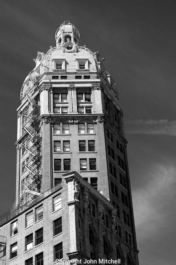 The 17-storey Sun Tower Beaux-Arts building on Pender Street in downtown Vancouver, BC, Canada