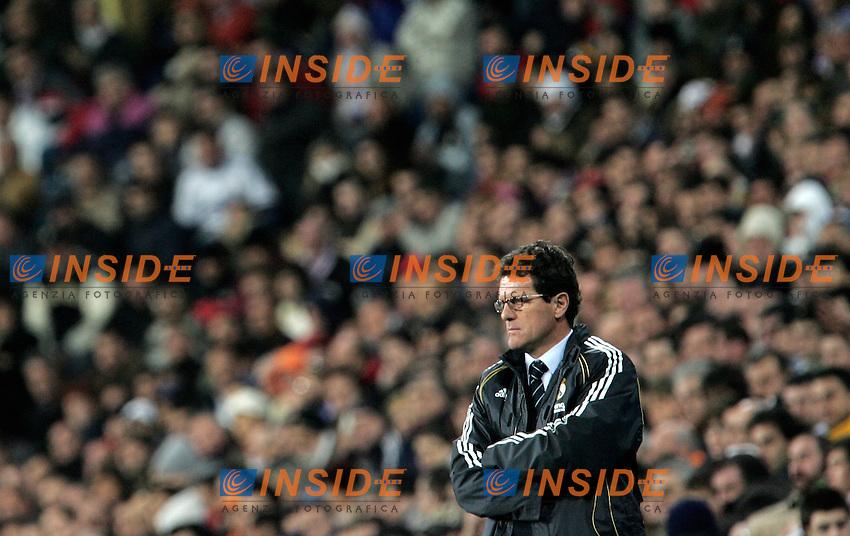 Real Madrid's coach Fabio Capello during Spain's La Liga match at Santiago Bernabeu stadium in Madrid, Saturday February 17, 2007. (INSIDE/ALTERPHOTOS/Alvaro Hernandez).