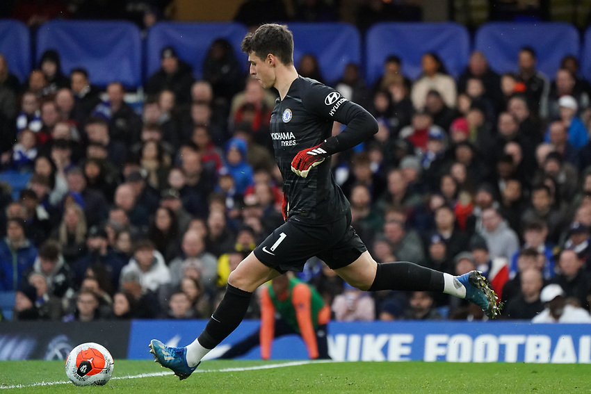 Chelsea's Kepa Arrizabalaga<br /> <br /> Photographer Stephanie Meek/CameraSport<br /> <br /> The Premier League - Chelsea v Everton - Sunday 8th March 2020 - Stamford Bridge - London<br /> <br /> World Copyright © 2020 CameraSport. All rights reserved. 43 Linden Ave. Countesthorpe. Leicester. England. LE8 5PG - Tel: +44 (0) 116 277 4147 - admin@camerasport.com - www.camerasport.com