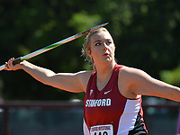 Stanford, Ca - Friday March 31, 2017: Victoria Smith at the Stanford Invitational at Cobb Field.