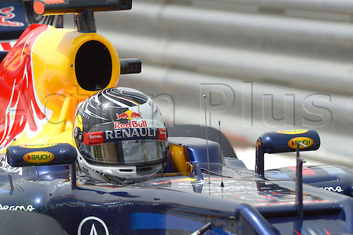 20.04.2012 German Formula One driver Sebastian Vettel of Red Bull enters the pitlane during the first practice session on the Bahrain International Circuit in Sakhir, near Manama, Bahrain.