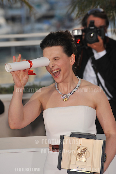 Juliette Binoche at the closing Awards Gala at the 63rd Festival de Cannes..May 23, 2010  Cannes, France.Picture: Paul Smith / Featureflash