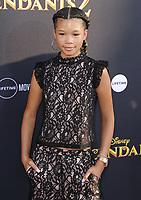 www.acepixs.com<br /> <br /> July 11 2017, LA<br /> <br /> Storm Reid arriving at the premiere of Disney Channel's 'Descendants 2' on July 11, 2017 in Los Angeles, California. <br /> <br /> By Line: Peter West/ACE Pictures<br /> <br /> <br /> ACE Pictures Inc<br /> Tel: 6467670430<br /> Email: info@acepixs.com<br /> www.acepixs.com