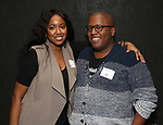 Whitney White and Michael R. Jackson  during the Vineyard Theatre's Emerging Artists Luncheon honoring Charly Evon Simpson with the Paula Vogel Playwriting Award at the National Arts Club on November 25, 2019 in New York City.