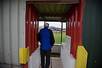 Prestatyn Town 0 Port Talbot Town 0, 19/10/2013. Bastion Gardens, Welsh Premier League. A spectator watching the action at Bastion Gardens during the first-half of the match between Prestatyn Town and visitors Port Talbot Town in the Welsh Premier League. Prestatyn Town were Welsh Cup winners in 2013. The match ended goalless and was watched by 211 spectators. Photo by Colin McPherson.