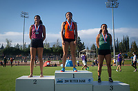LaShauna Porter '20 finished 1st in the 100 and 200 Meter Dash. Porter, a former 200m All-American, was the only woman under 25 seconds in the 200m at 24.75 and ran 12.03 in the 100m for a pair of SCIAC Championships. She also ran the third leg on Oxy's third-place 4x100m relay team.The Occidental College men's and women's track and field teams compete in the 2019 Southern California Intercollegiate Athletic Conference (SCIAC) Track and Field Championships at the Claremont-Mudd-Scripps Burns Track Complex in Claremont, Calif. on Sunday, April 28, 2019.<br /> After the two-day SCIAC Championships CMS scored 211.50 points, followed by Pomona-Pitzer (171.50), Redlands (114), Occidental (92.50), Whittier (57.50), La Verne (54), Cal Lutheran (48), Chapman (23) and Caltech (4).