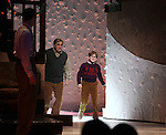 John Bolton, Dan Lauria & Johnny Rabe during the Broadway Opening Night Performance Curtain Call for 'A Christmas Story - The Musical'  at the Lunt Fontanne Theatre in New York City on 11/19/2012.