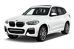 2018 BMW X3 M Sport 5 Door SUV angular front stock photos of front three quarter view
