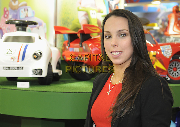 LONDON, ENGLAND - JANUARY 21: Beth Tweddle at The 2014 Toy Fair at Olympia in London on the 21st January 2014 in London, England<br /> CAP/PP/BK<br /> &copy;Bob Kent/PP/Capital Pictures