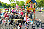 Playground Opening: Mayor of Kerry, Bobby O'Connell and Mayor of Listowel, Tom Walsh cutting the ribbon to officially open the children's playground  in Childers park in Listowel on Saturday morning. The music was provided by Ceolteoti Finuge under the direction of Denise Wren.