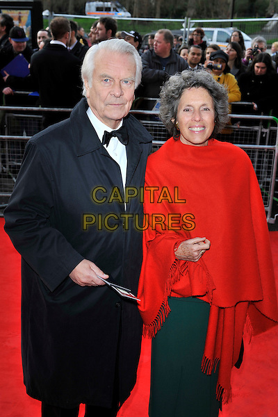 DAVID OWEN MP & GUEST.The Gorby 80 Gala Concert at the Royal Albert Hall, Kensington Gore, London, England, UK, 30th March 2011..80th birthday half 3/4 length black suit coat red wrap .CAP/MAR.© Martin Harris/Capital Pictures.