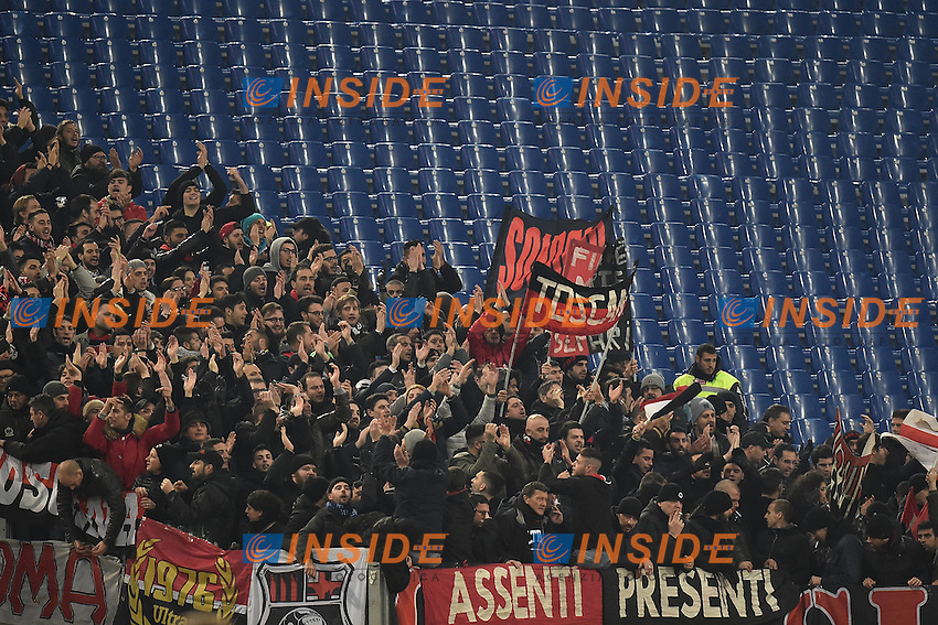 Tifosi Milan Supporters <br /> Roma 12-12-2016 Stadio Olimpico Football <br /> Campionato Serie A 2016/2017 <br /> AS Roma - Milan <br /> Foto Andrea Staccioli / Insidefoto