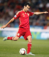 Spain's Sergio Busquets during 15th UEFA European Championship Qualifying Round match. November 15,2014.(ALTERPHOTOS/Acero) /NortePhoto nortephoto@gmail.com
