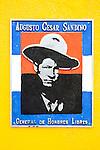 Plaque of Augusto Cesar Sandino, Leon, Nicaragua