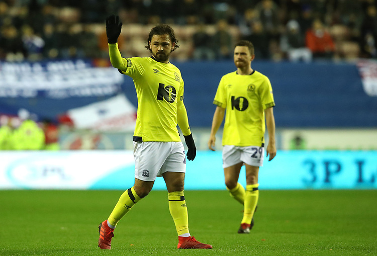 Blackburn Rovers' Bradley Dack<br /> <br /> Photographer Rachel Holborn/CameraSport<br /> <br /> The EFL Sky Bet Championship - Wigan Athletic v Blackburn Rovers - Wednesday 28th November 2018 - DW Stadium - Wigan<br /> <br /> World Copyright © 2018 CameraSport. All rights reserved. 43 Linden Ave. Countesthorpe. Leicester. England. LE8 5PG - Tel: +44 (0) 116 277 4147 - admin@camerasport.com - www.camerasport.com