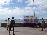 Leere Promenaden in Sewastopol / Situation der Wirtschaft ein Jahr nach der Krim-Annexion