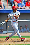 12 March 2012: St. Louis Cardinals outfielder Adron Chambers in action during a Spring Training game against the Washington Nationals at Space Coast Stadium in Viera, Florida. The Nationals defeated the Cardinals 8-4 in Grapefruit League play. Mandatory Credit: Ed Wolfstein Photo