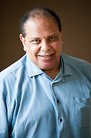 Non tace Ala al Aswani. Il più celebre scrittore egiziano - autore di bestseller come Palazzo Yacoubian, Chicago, Cairo Automobile Club. Pordenone 19 settembre 2018. © Leonardo Cendamo