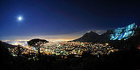 180 degrees of Cape Town with Table Mountain, South Africa 2010