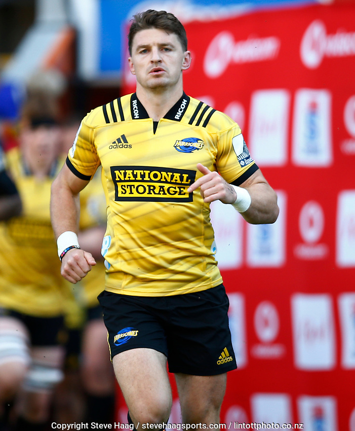 DURBAN, SOUTH AFRICA - JUNE 01: Beauden Barrett of the Hurricanes during the Super Rugby match between Cell C Sharks and Hurricanes at Jonsson Kings Park Stadium in Durban, South Africa on Saturday, 1 June 2019. Photo by Steve Haag / stevehaagsports.com