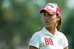 CHON BURI, THAILAND - FEBRUARY 19:  Momoko Ueda of Japan looks back on the 6th hole during day three of the LPGA Thailand at Siam Country Club on February 19, 2011 in Chon Buri, Thailand. Photo by Victor Fraile / The Power of Sport Images