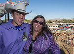 """Dylan and Shannon Harloff during Purple Night at the Rodeo on Tuesday night, June 21, 2016.  """"Man Up Crusade Night"""" encouraged rodeo goers to wear purple for advocacy to stop domestic violence."""