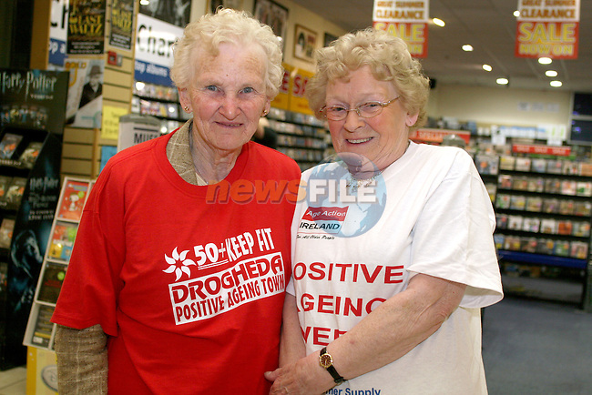 Phyllis Duggan and Phyllis Donnelly at the Launch of Positive Aging Week 2009 in the Town Centre...Photo NEWSFILE/Jenny Matthews.(Photo credit should read Jenny Matthews/NEWSFILE)....This Picture has been sent you under the condtions enclosed by:.Newsfile Ltd..The Studio,.Millmount Abbey,.Drogheda,.Co Meath..Ireland..Tel: +353(0)41-9871240.Fax: +353(0)41-9871260.GSM: +353(0)86-2500958.email: pictures@newsfile.ie.www.newsfile.ie.FTP: 193.120.102.198.