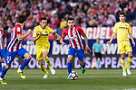 Angel Correa of Atletico de Madrid (R) in action during the La Liga match between Atletico de Madrid vs Villarreal CF at the Estadio Vicente Calderon on 25 April 2017 in Madrid, Spain. Photo by Diego Gonzalez Souto / Power Sport Images