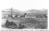 A distant, panoramic view of the Pagosa Lumber Co. sawmill at Dulce.<br /> Pagosa Lumber Co.  Dulce, NM  Taken by Sullenberger, Robert - 1916