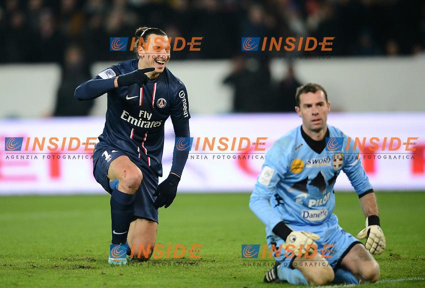 Zlatan Ibrahimovic (PSG) et Bertrand Laquait (Evian)  .Football Calcio 2012/2013.Ligue 1 Francia.Foto Panoramic / Insidefoto .ITALY ONLY