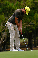 Nick Cullen (AUS) on the 2nd green during round 2 of the Australian PGA Championship at  RACV Royal Pines Resort, Gold Coast, Queensland, Australia. 20/12/2019.<br /> Picture TJ Caffrey / Golffile.ie<br /> <br /> All photo usage must carry mandatory copyright credit (© Golffile | TJ Caffrey)