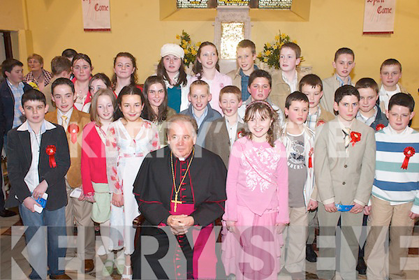 Pupils from Castlemaine National School who were confirmed by Bishop Bill Murphy in St Gobnaits Church, Keel, last Wednesday..