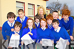 Pupils from Kiltallagh NS, Castlemaine who have been selected to sing with the National Ocrestra choir in the RDS in December front row l-r: Frank Stephens, Alison O'Meara, Sarah Alderdice, Jack Barrett. Back row, Tom Eadie, Luke Barrett, Paula Ni? Bhriain Principal, Lee Loughlin, Malachy Broadberry, Tom Eadie, Kyle Griffin and Ben Eadie   Copyright Kerry's Eye 2008