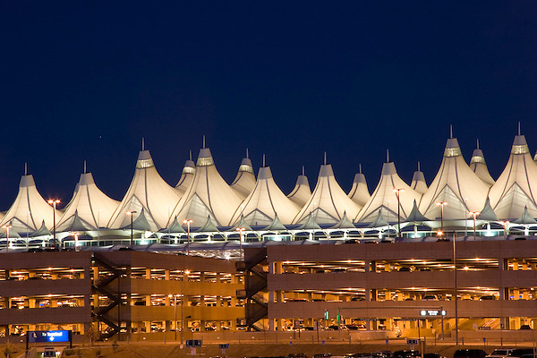 Denver International Airport (DIA) and the main terminal, Denver; Colorado. .  John offers private photo tours in Denver, Boulder and throughout Colorado. Year-round Colorado photo tours.