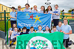 Gneeveguilla NS pupils  who unvailed their Green Flag and Active School flags at a ceremony in the school on FridayLily Sheerin, Treasa Cremin, Oisin Hurley, Tadhg Jack O'Leary, Emma Shields, michelle McCArthy, Denis Cronin, Dylan O'Brien, Leanne Fleming. Back row: Oisin O'Leary, Gavin Barry, Tara Jones, Leah Murphy, Caitlin O'Leary, Laura Hickey, Jennifer Dineen