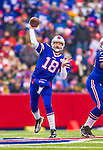 14 December 2014: Buffalo Bills quarterback Kyle Orton makes a forward pass in the first quarter against the Green Bay Packers at Ralph Wilson Stadium in Orchard Park, NY. The Bills defeated the Packers 21-13, snapping the Packers' 5-game winning streak and keeping the Bills' 2014 playoff hopes alive. Mandatory Credit: Ed Wolfstein Photo *** RAW (NEF) Image File Available ***