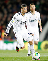 Real Madrid's Cristiano Ronaldo (l) and Xabi Alonso during Copa del Rey - King's Cup semifinal second match.February 26,2013. (ALTERPHOTOS/Acero) /NortePhoto