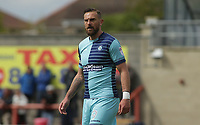 Paul Hayes of Wycombe Wanderers during the Sky Bet League 2 match between Morecambe and Wycombe Wanderers at the Globe Arena, Morecambe, England on 29 April 2017. Photo by Stephen Gaunt / PRiME Media Images.