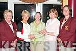 CHARITY: The Lady Captains Charity Day at Ballybunion Golf Club on Saturday raised.11,000 euros for a hospice centre in Newcastle West and the Nano Nagle School in Listowel..Photographed were Mary OConnell (lady president) Louise Griffin (winner), Joan.Buckley (sponsor), Aideen OLeary (winner) and Deirdre Dillane (lady captain).