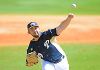 Florida International University left handed pitcher R.J. Fondon (19) plays against ULM. FIU won the game 8-6 on April 1, 2012 at Miami, Florida.