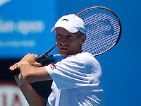 Nicolay Davydenko practicing at Melbourne Park..International Tennis - Australian Open Tennis -  Tues 26  Jan 2010 - Melbourne Park - Melbourne - Australia ..© Frey - AMN Images, 1st Floor, Barry House, 20-22 Worple Road, London, SW19 4DH.Tel - +44 20 8947 0100.mfrey@advantagemedianet.com
